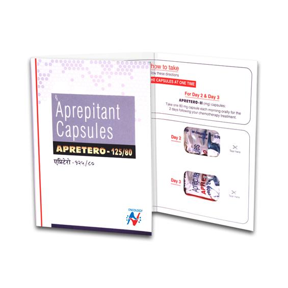APREPITANT - APRETERO 125/80 CAPSULES