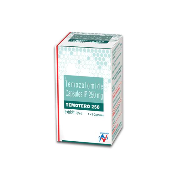 TEMOZOLOMIDE - TEMOTERO 250MG CAPSULES